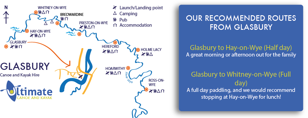Glasbury to Hay on Wye canoe hire