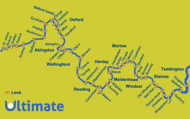River Thames Canoeing Routes for canoeing and kayaking hire and trips