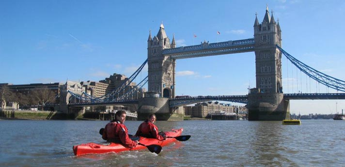 London kayaking