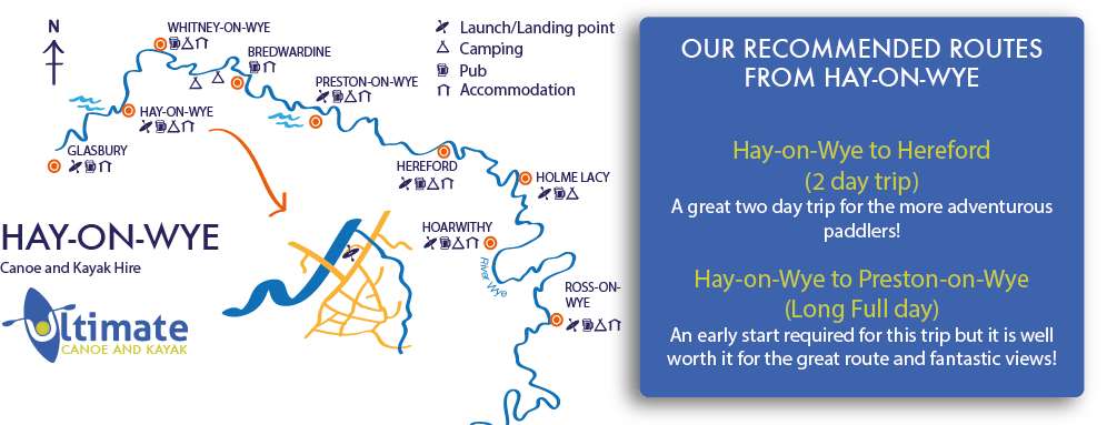 Hay on Wye to Hereford canoe