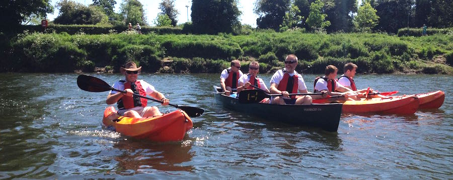 Hay on Wye to Hereford canoe and kayak